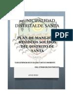 Plan de Manejo de Residuos Solidos - 2013