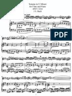 Sonata in E Minor for Flute and Piano BWV 1034