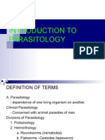 Introduction to Parasitology