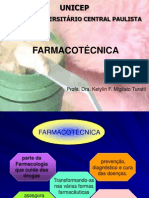 INTRODUÇÃO À FARMACOTÉCNICA