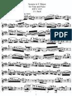 Sonata in E Major for Flute and Piano BWV 1035