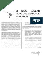 ASII05 Perez Aguirre - Trabajo, Si Digo Educar Para Los Derechos Humanos