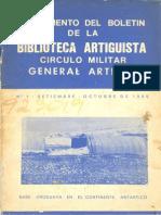 Suplemento del Boletín de la Biblioteca Artiguista - 1986
