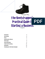 The Bootstrapper's Guide to Starting a Business