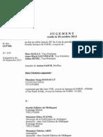 Jugement Dassault