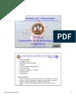 ENSEÑANZA DEL PIRAGUISMO. TEMA 4