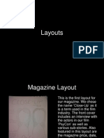 Film poster and Magazine Layouts