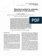 Deterministic Sliding Block Methods for Estimating Seismic Displacements of Earth Structures