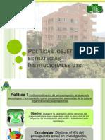 Políticas ,objetivos y estrategias Institucionales uts ronald