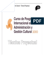 Técnica Proyectual Clase II