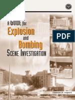 Explosion and Bomb Scene Investigation Ni j