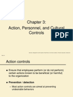 Action, Personnel, and Cultural Controls