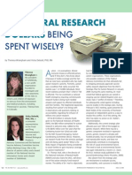 Are Federal Research Dollars Being Spent Wisely? by Theresa Wrangham & Vicky Debold, PhD, RN