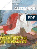 Alecsandri Vasile - Poezii Populare Ale Rom (Tabel Crono)