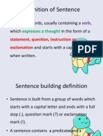 Early Writing -Sentence Building