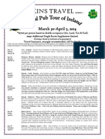 Perkins Travel Annual Tour of Ireland Mar 30-April 5 2014