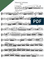 Minuet de L'Arlesienne (Flute)