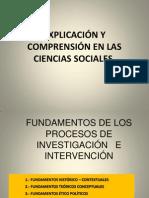 1.3  Explicación y comprensión en las ciencias sociales