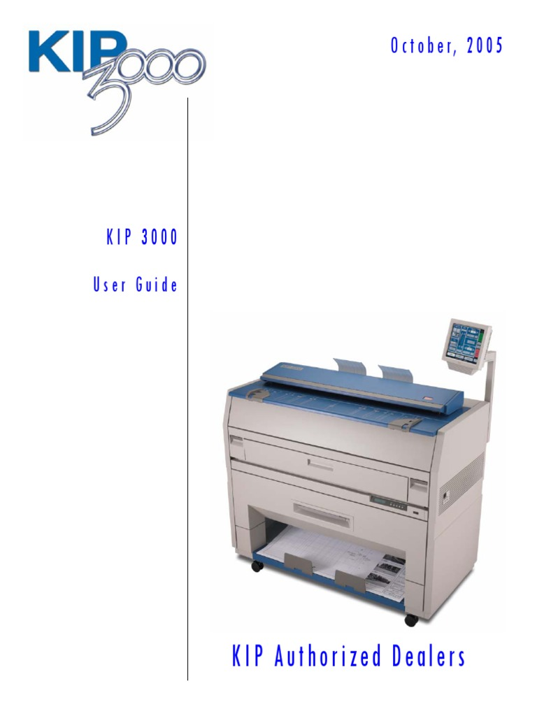 kip 3000 users guide a2 image scanner printer computing
