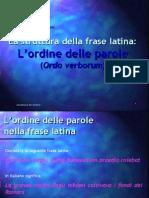 Ordine Delle Parole Nella Frase Latina