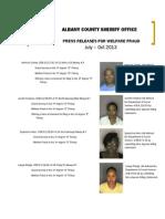 Jul Oct 2013 Welfare Fraud Arrest