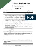 Ftre 2013 Class Viii Paper 1