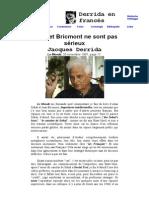 Derrida - Sokal Et Bricmont Ne Sont Pas Serieux