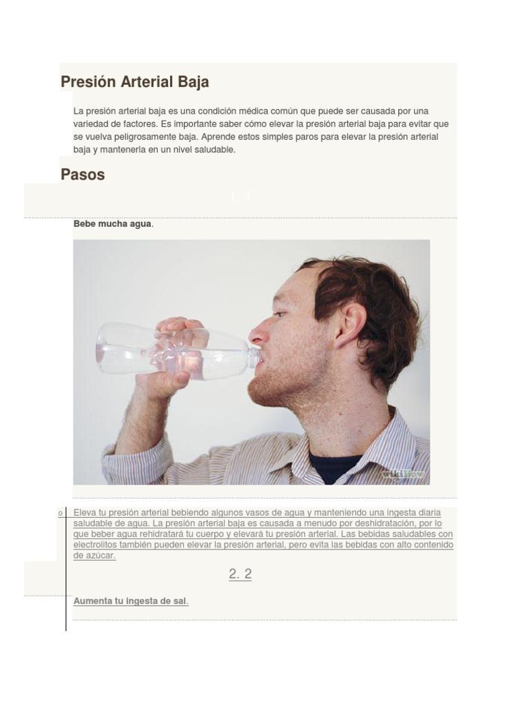 Sube la presión arterial cuando se deshidrata