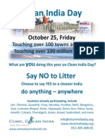 Action Plan - Clean India Day 2013
