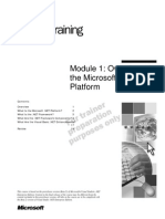 VB.net - Module 1_Overview of the Microsoft .NET Platform