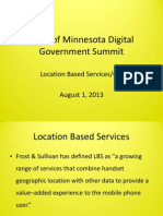Location Based Services - GIS - Mike Cowger
