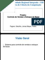 Apresentação Projeto Controle de vendas Bazar
