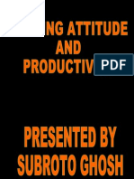 Attitude and Productivity