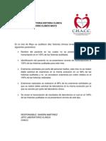 Analisis Auditoria Historia Clinica Laboratorio Clinico 1