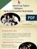 """Folleto Informativo """"Crónicas Anacrónicas de la Conquista"""""""