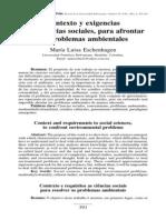 Ciencias Sociales y Problemas Ambientales