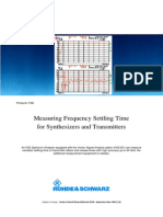 Measuring Frequency Settling Time for Synthesizers and Transmitters