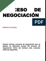 Proceso de Negociacion Equipo Azul