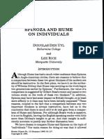 Rice & Den Uyl - Spinoza and Hume on Individuals