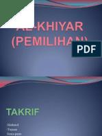 Khiyar(Options)