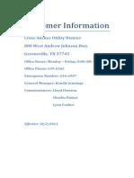 customer information caud