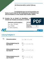 3. Übung - Modellierung von Reaktionskinetiken im Batch - Lösungen