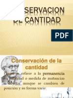 Conservacion de Cantidad
