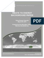 Waste to Energy Yec Background Paper