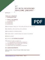 Diligence -Bible Study With Rev Chris Oyakhilome January