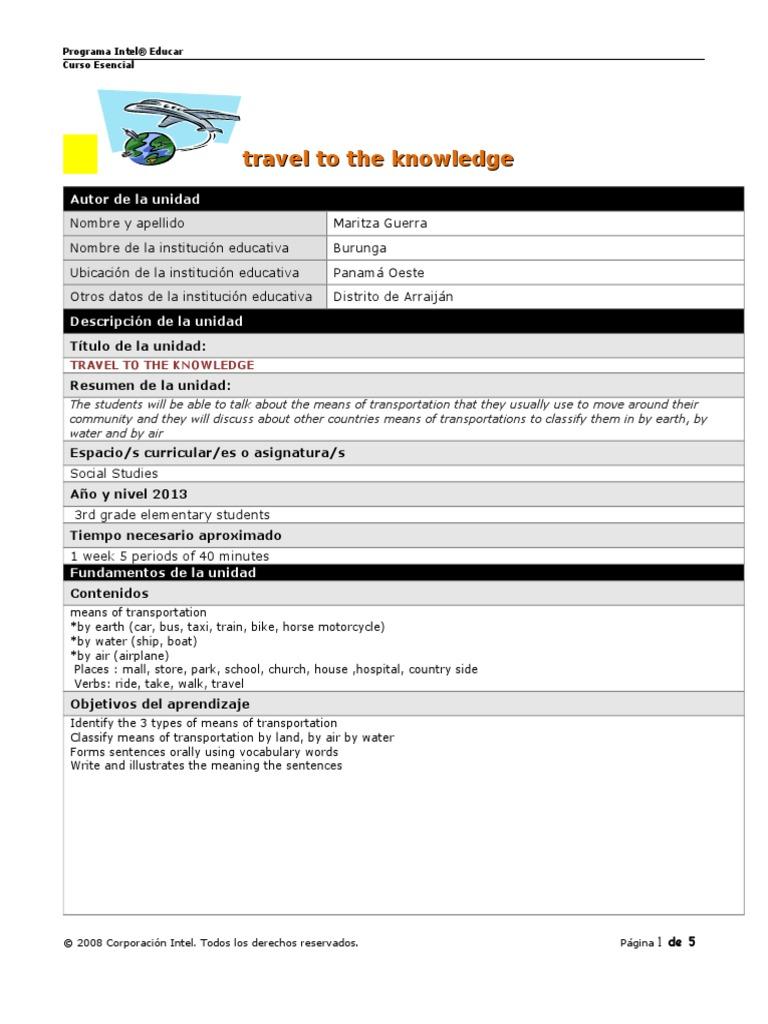 plantilla plan unidad docmodified | Grammar | Linguistics