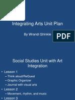integrating arts unit plan powerpoint