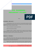 Civil engineering Preliminary syllabus