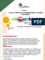 """Folleto Informativo III Festival Internacional de Arte Callejero """"EnQentro en el Espacio Público"""""""