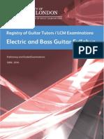 Electric Bass Guitar Syllabus